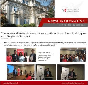 """""""Promoción, difusión de instrumentos y políticas para el fomento al empleo, en la Región de Tarapacá"""""""