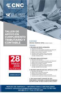 INVITACIÓN TALLER APOYO EN CUMPLIMIENTO TRIBUTARIO Y CONTABLE