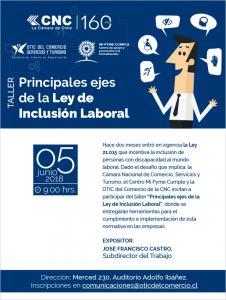 TALLER - PRINCIPALES EJES DE LA LEY DE INCLUSIÓN LABORAL