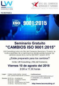SEMINARIO - CAMBIOS ISO 9001:2015