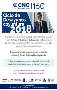 Streaming el Desayuno de Coyuntura con el Ministro José Ramón Valente.